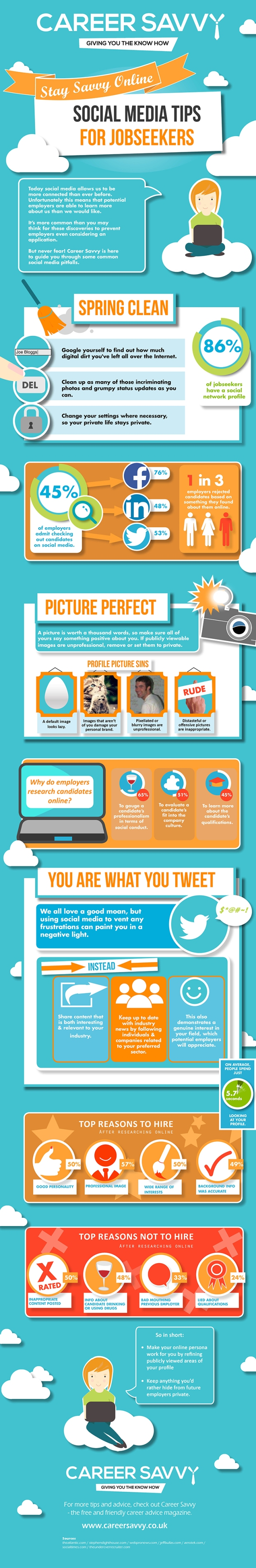 Handy Social Media Tips for Jobseekers [INFOGRAPHIC]