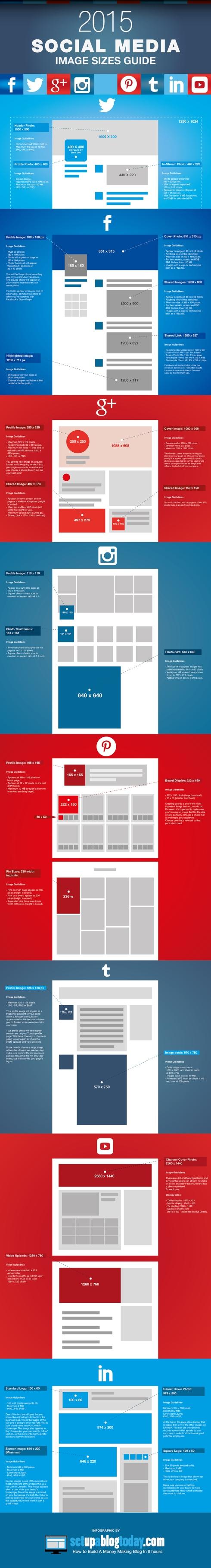 Social Media Image Sizes Cheat Sheet [INFOGRAPHIC]