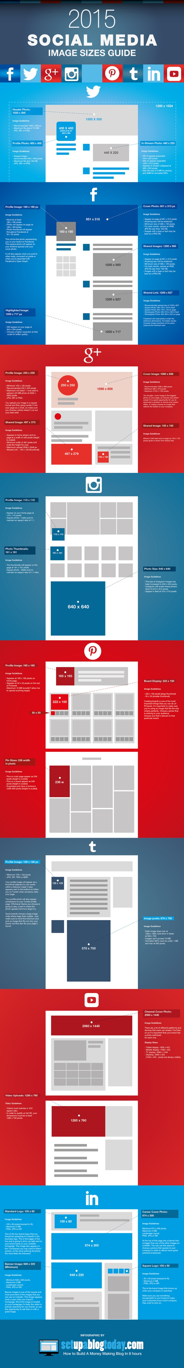Social Media Image Sizes Cheat Sheet [INFOGRAPHIC]
