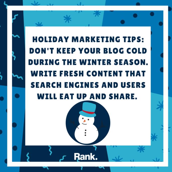 Holiday Marketing Tip #1