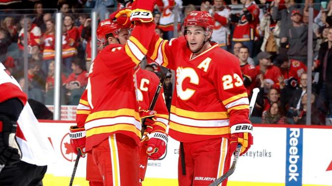Calgary Flames Alternate Jersey - Throwbacks